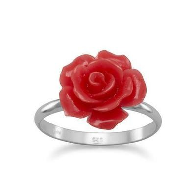 Glass Rose Ring