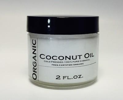 Organic Cold Pressed Coconut Oil - 2oz