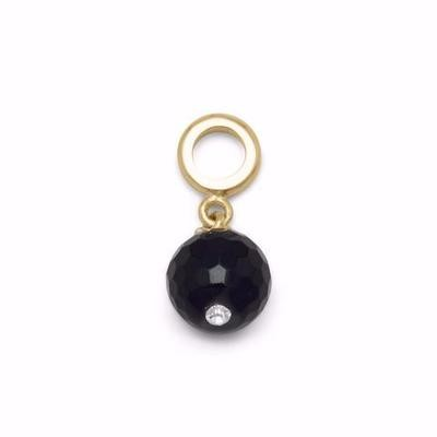 14 K Gold Plated Black Onyx Charm Bead
