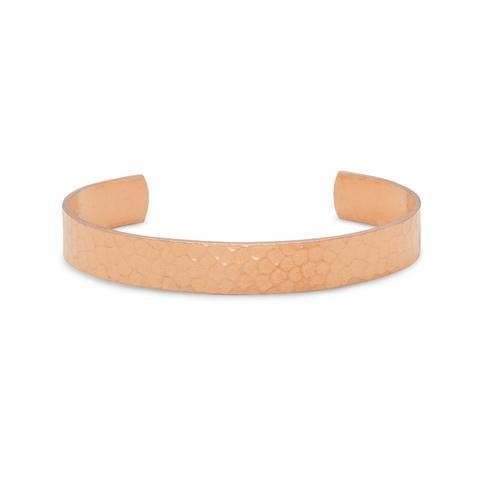 9.5mm Hammered Copper Cuff