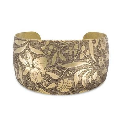 Antique Brass Floral Cuff/Bracelet
