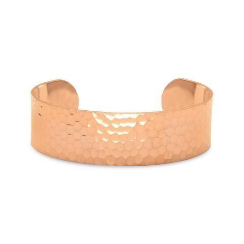 19mm Wide Hammered Copper Cuff/Bracelet