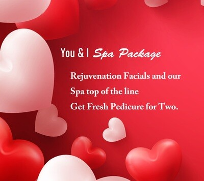 You & I Valentine Spa Package For Two People