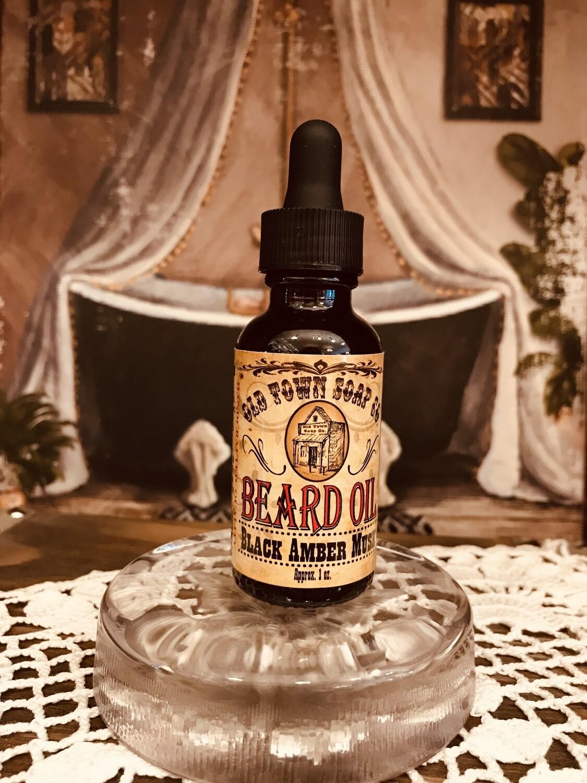 Black Amber Musk -Beard Oil
