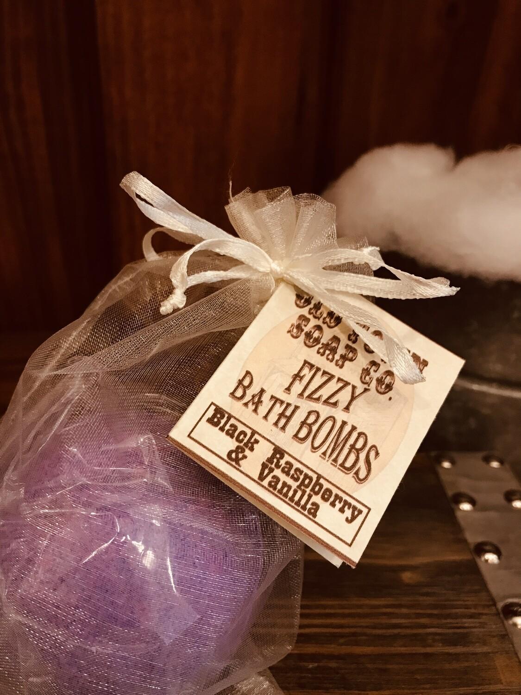Black Raspberry & Vanilla Bath Bomb -Large