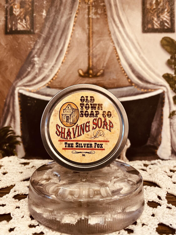 The Silver Fox -Shave Soap Tin