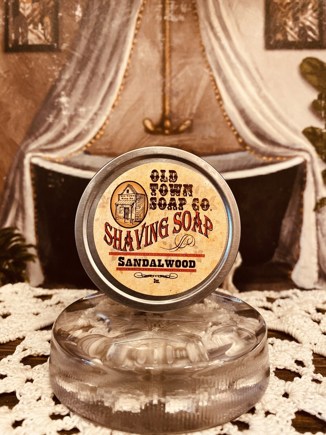 Sandalwood -Shave Soap Tin