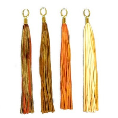 Leather Purse Tassels Brown