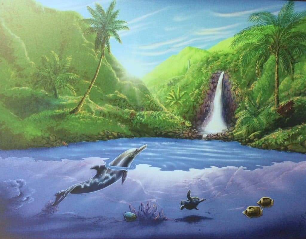 Poster: Dolphins in Paradise