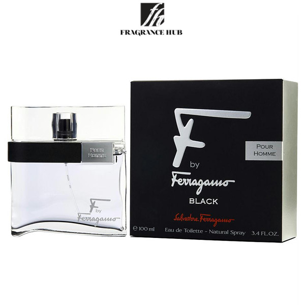 [Original] Salvatore Ferragamo F by Ferragamo Black Pour Homme EDT Men 100ml