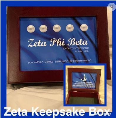 Zeta Mahogany Keepsake Box