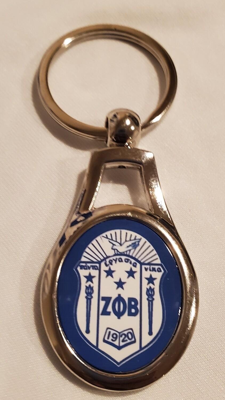 Zeta Phi Beta Key chain