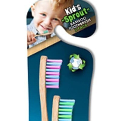 Children's Bamboo Toothbrush Child's 2-pack