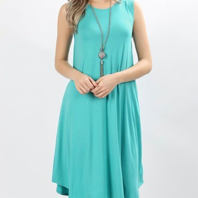 Sleeveless Bamboo Knee Length Dress