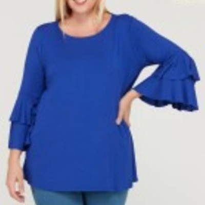 Ruffled Layered Sleeve Top