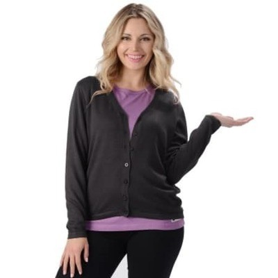Black Women's Bamboo Cardigan