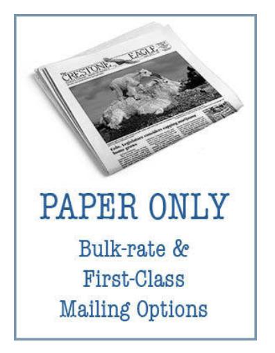 Crestone Eagle News -  Annual Paper Subscription AP