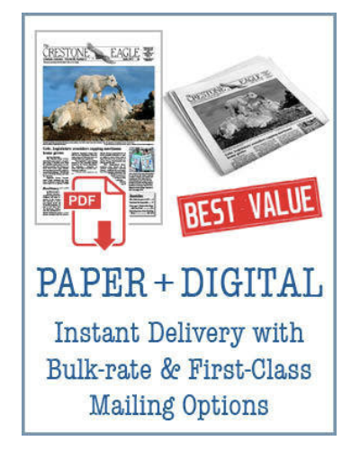 Crestone Eagle News - Annual Paper + Digital Subscription APD
