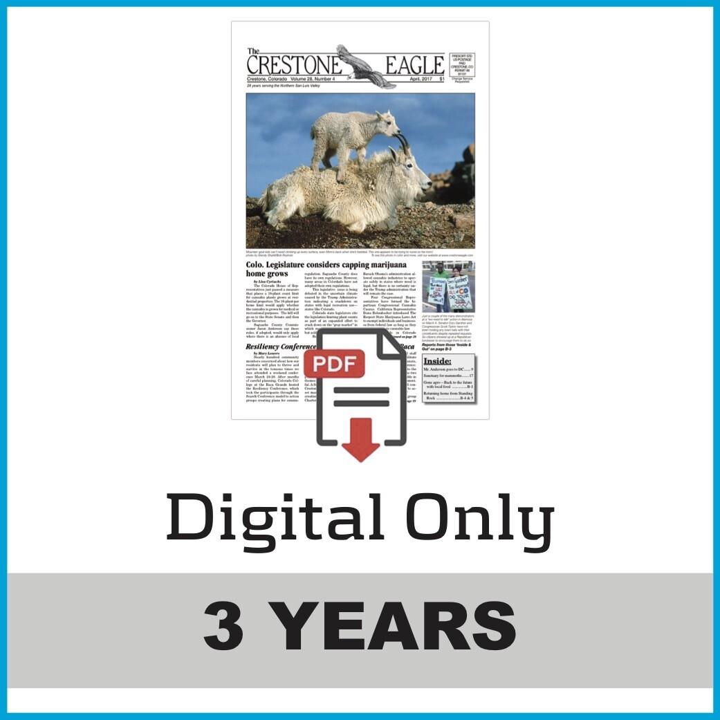 Crestone Eagle News - 3 Year Digital Subscription