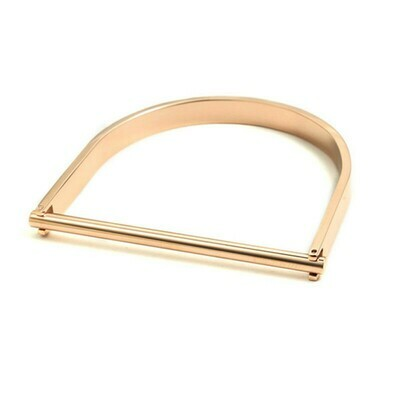 316L Stainless Steel Bar Buckle Cuff Bangle 18K Gold