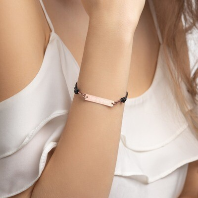 Life of Grace™ Engraved Silver Bar String Bracelet