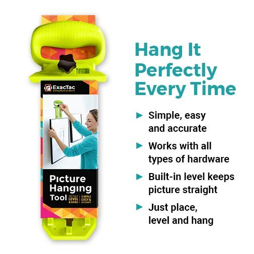 The Amazing ExacTac Picture Hanging Tool