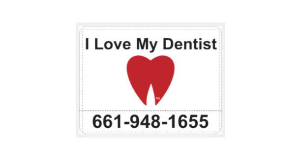 "Large ""I Love My Dentist!"" Large Car Magnets (2)"