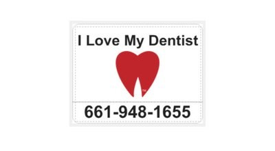 "Large ""I Love My Dentist!"" Large Car Magnets (2)"