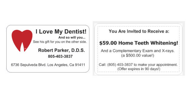 """I Love My Dentist"" Glossy Referral Cards - box of 500"