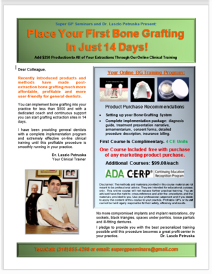 Simplified Bone Grafting Course (4 CE Units)