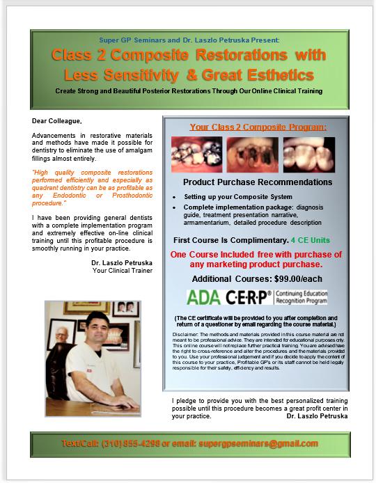 Great Class 2 Composites Course (4 CE Units)