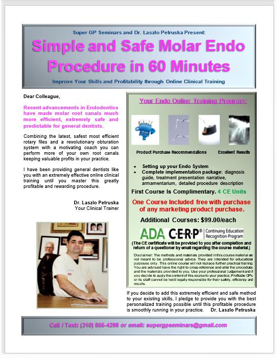 30-Minute Molar Endo Course (4 CE Units)