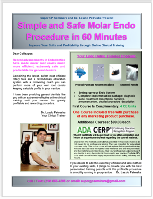 30-Minute Molar Endo Course (4 CE Units)