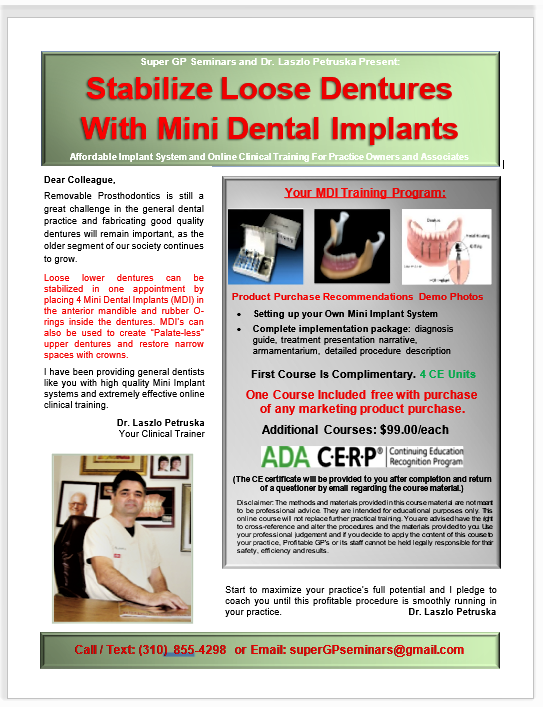 Mini Dental Implant Course (4 CE Units)