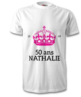 T-shirt anniversaire personnalisé
