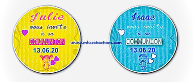 Badge pour communion