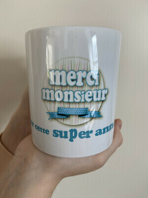 Mug merci monsieur