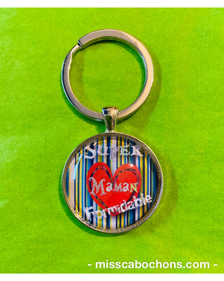Porte-clefs super maman