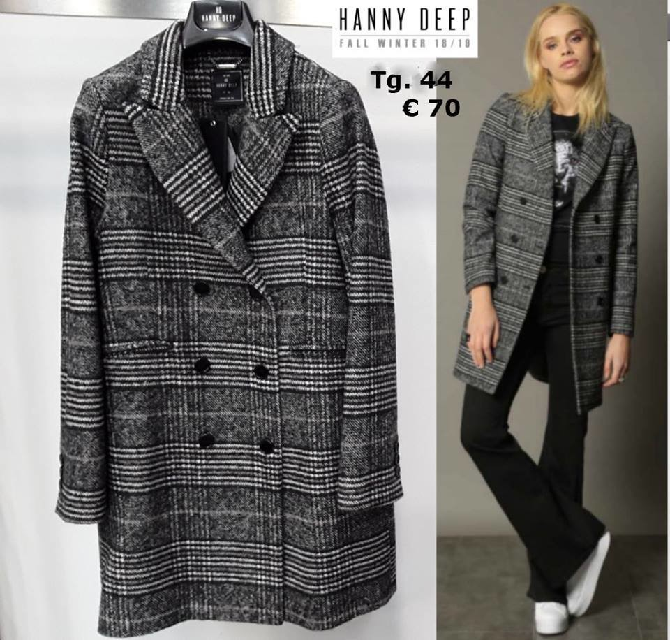 big sale 6ee3a 5ed51 Cappotto quadri Hanny Deep