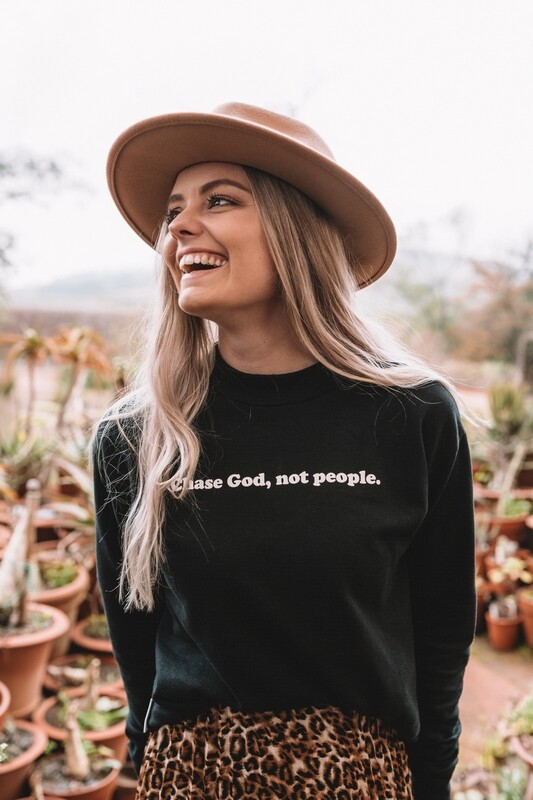 Chase God not people sweater