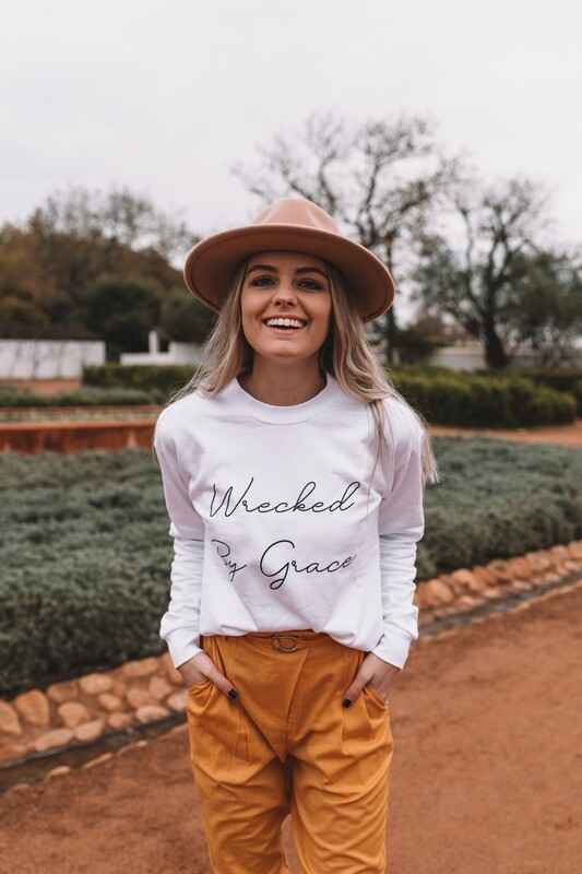 Wrecked by grace sweater