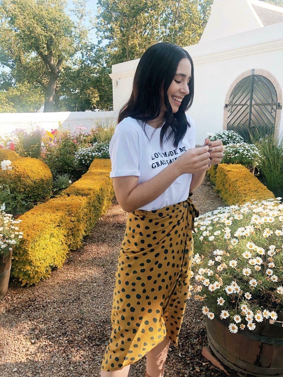 Mustard wrap skirt