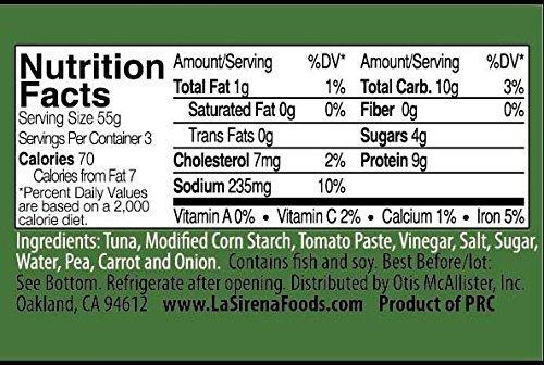 La Sirena Tuna Chunk with vegetables 5 oz (12 units pack)