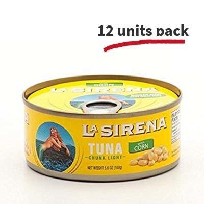 La Sirena Tuna Chunk with Corn, 5 oz (12 units pack)