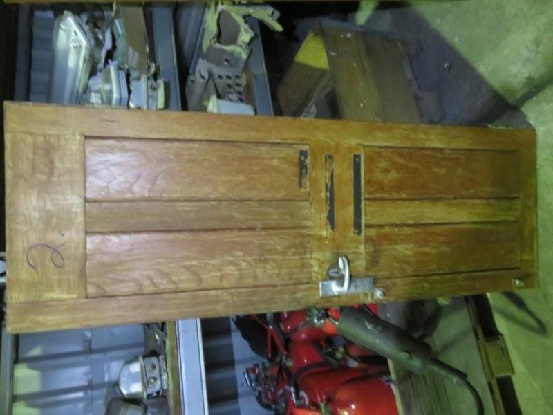 2. Dører Teak - 174x62 cm u/karm