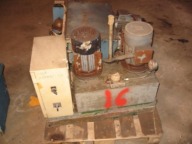 16. Hydraulik agregat - 2x1,27kw 220-480volt