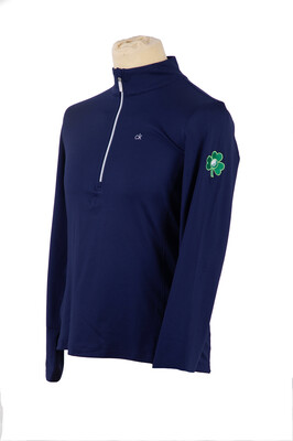 Ladies Shamrock 1/4 zip Top