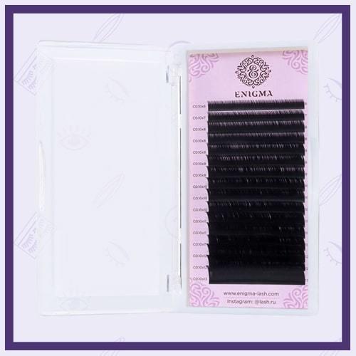 Ресницы чёрные Enigma L, L+ (Микс)