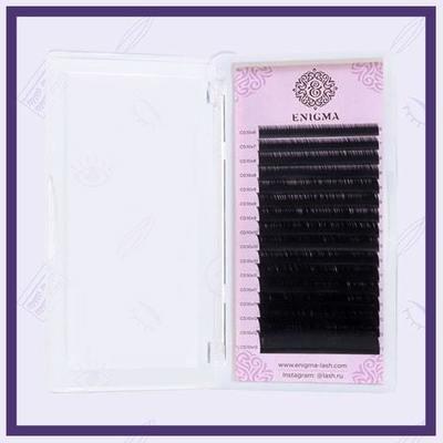 Ресницы чёрные Enigma С, D, D+ (Отдельные длины)