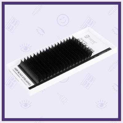 Ресницы чёрные eXtreme Look Black Veil С, D, CC (Отдельные длины)